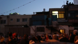 Sheikh Jarrah Christmas Party - Israeli Settlers on seized rooftop_20Dec10