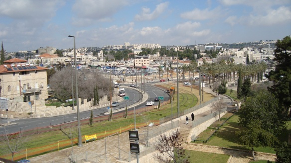 JLRT tracks on the Green Line - Jerusalem - 13 Feb. 2011 - Photo: Sherry Ann