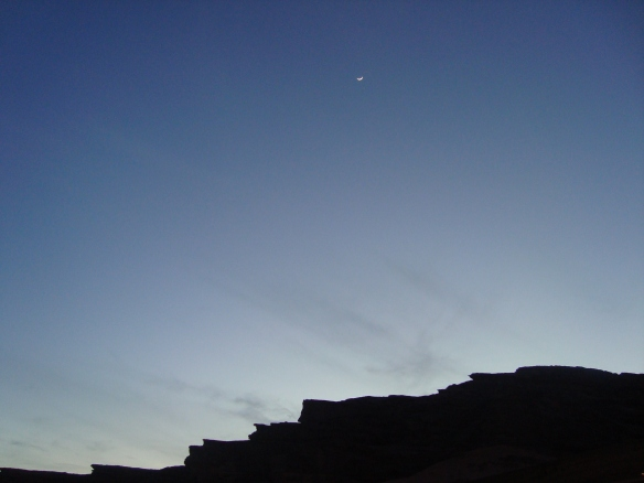 New moon over the Middle East - April 2009 - Photo Sherry Ann