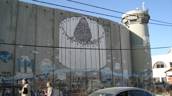 Walled In for Christmas - Israeli Government's Security Wall from Bethlehem side in the occupied West Bank - 16 Dec. 2010 - Photo: Sherry Ann