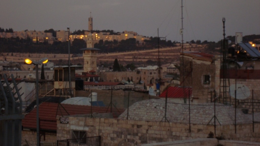 Looking over Old-City rooftops to Hebrew University in occupied East Jerusalem - 10 Dec. 2010 - Photo: Sherry Ann