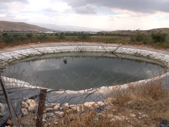 Nai'mes agricultural water pool, Jordan Valley Photo EAPPI/M. Stacke