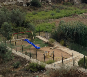 Children's Playground Wadi Fukin, Occupied Palestine Photo Credit: Dawn